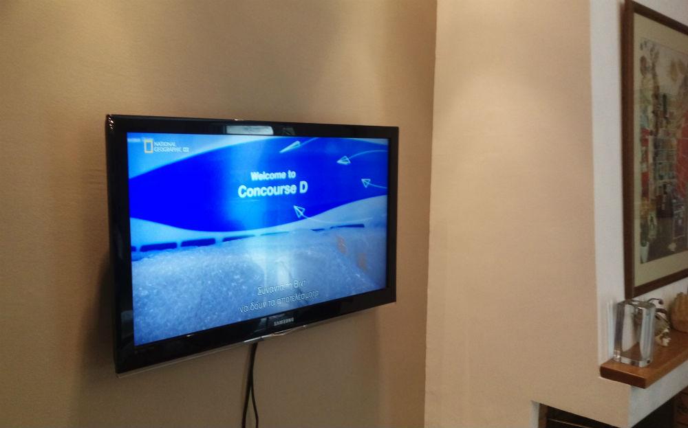 Τοποθέτηση τηλεόρασης σε τοίχο & σύνδεση COSMOTE TV