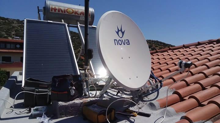 Εγκατάσταση Δορυφορικού πιάτου NOVA στη Βάρη